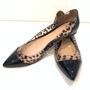GIANVITO ROSSI Leopard Plexi Ballet Flats Sz 39